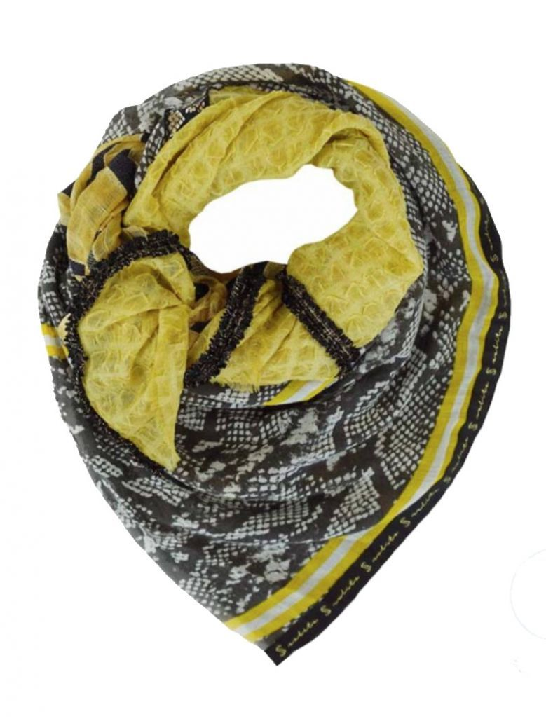 Solito Floral And Snakeprint Patterned Scarf