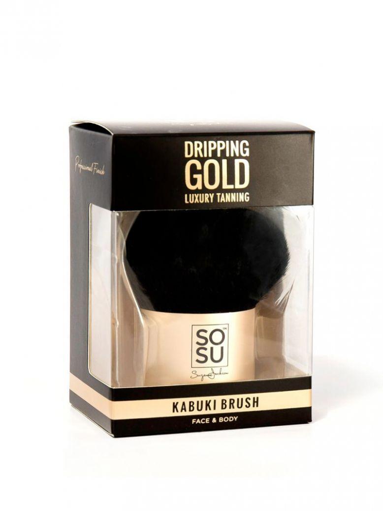 SOSU Dripping Gold Kabuki Brush