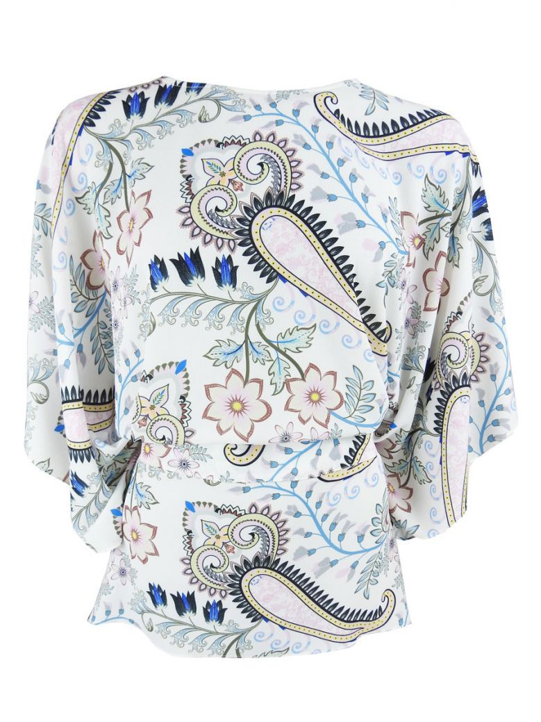 GG London Floral Print Wide Sleeve Top