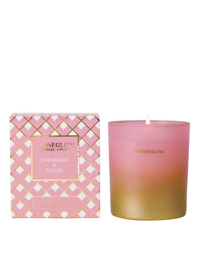 Stoneglow Cranberry and Cassis Fragranced Candle