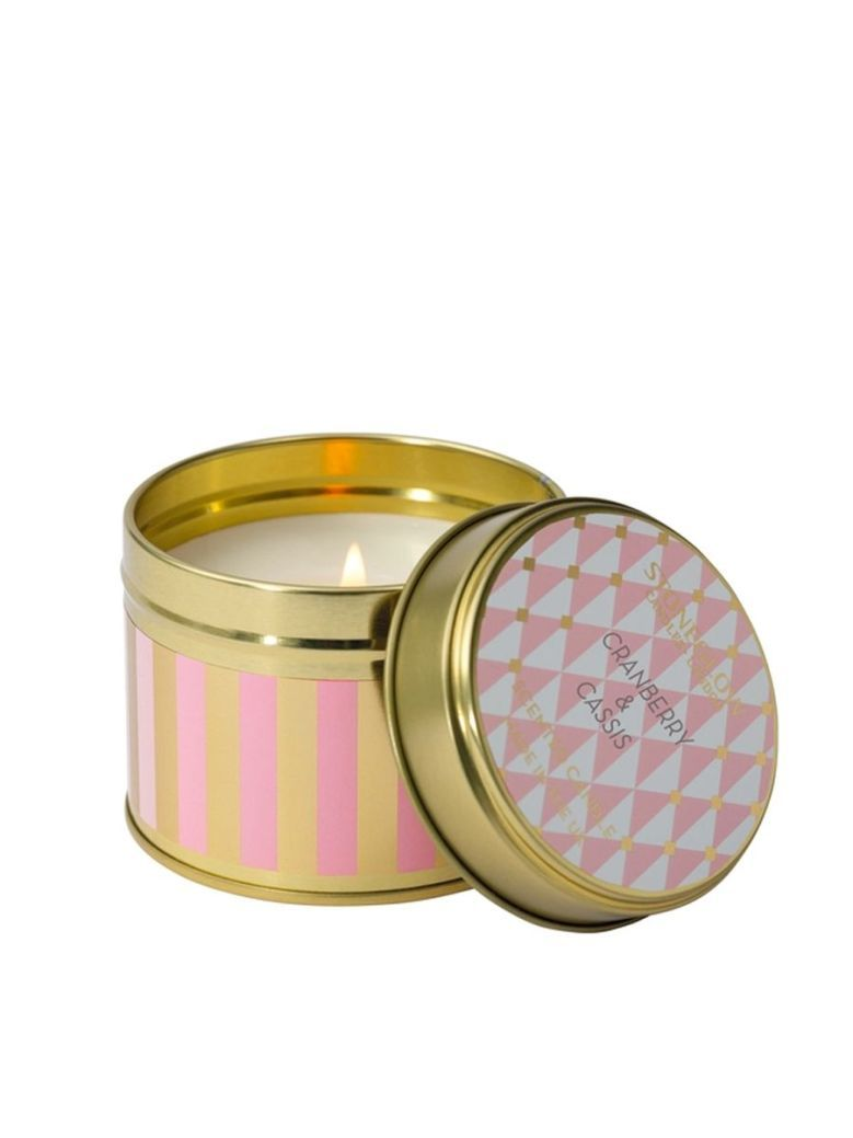 Stoneglow Cranberry and Cassis Scented Tin Candle