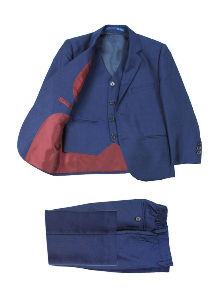 Boys Slim Fit 3-Piece Navy Ford Suit from Creon Previs
