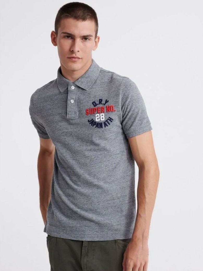 Superdry Classic Superstate Polo Shirt Grey
