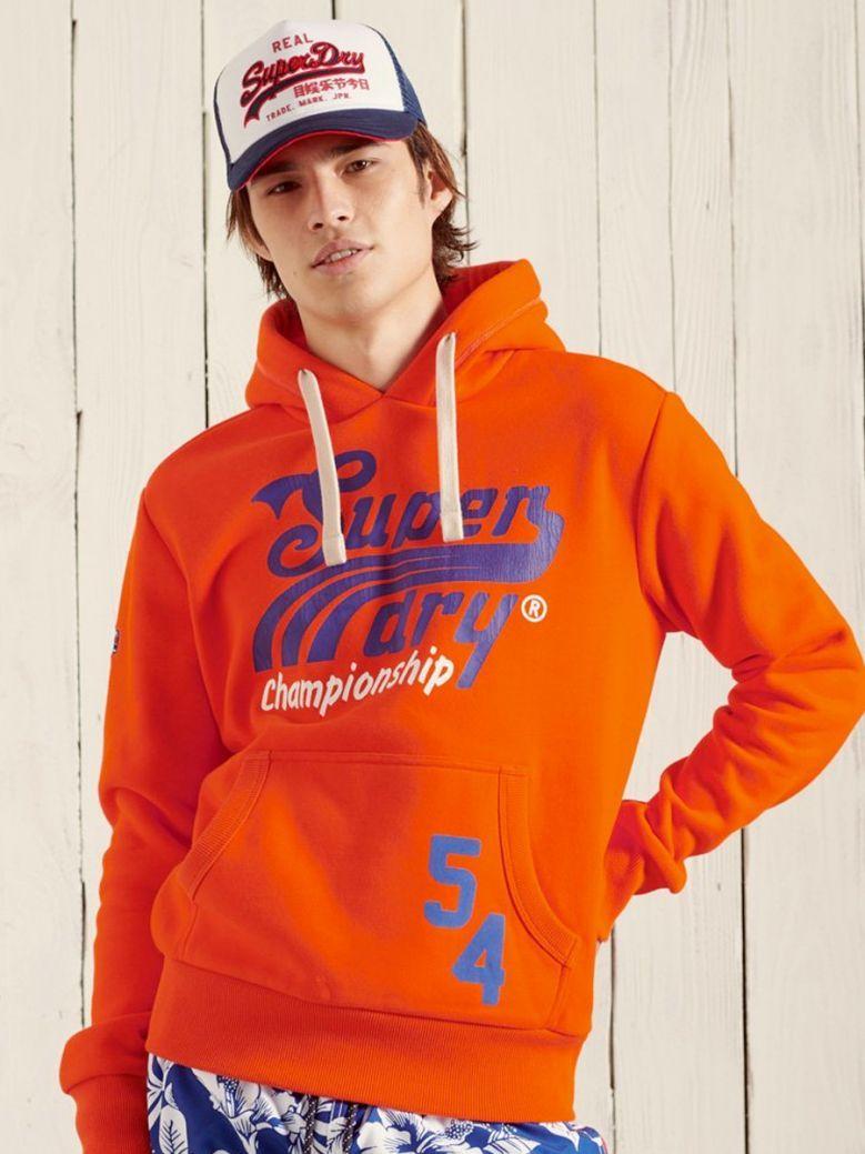 Superdry Collegiate Graphic Overhead Hoodie Denver Orange