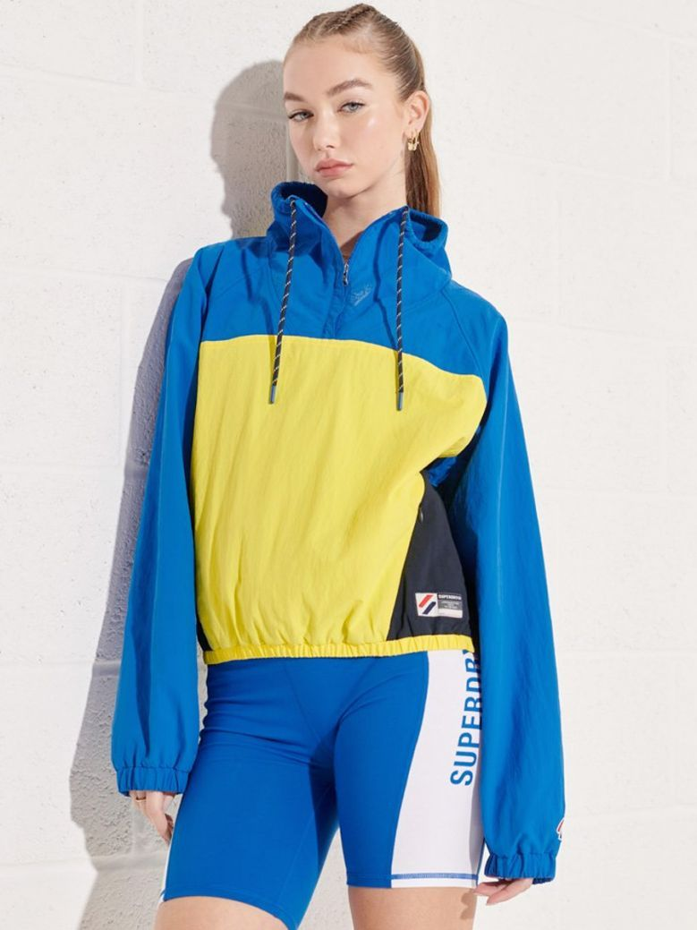 Superdry Overhead Cropped Cagoule Jacket Royal