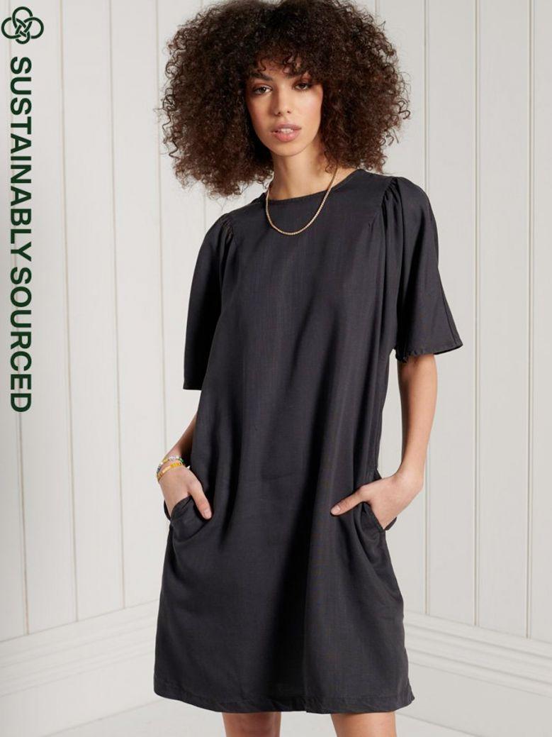 Superdry Tencel T-Shirt Dress Black