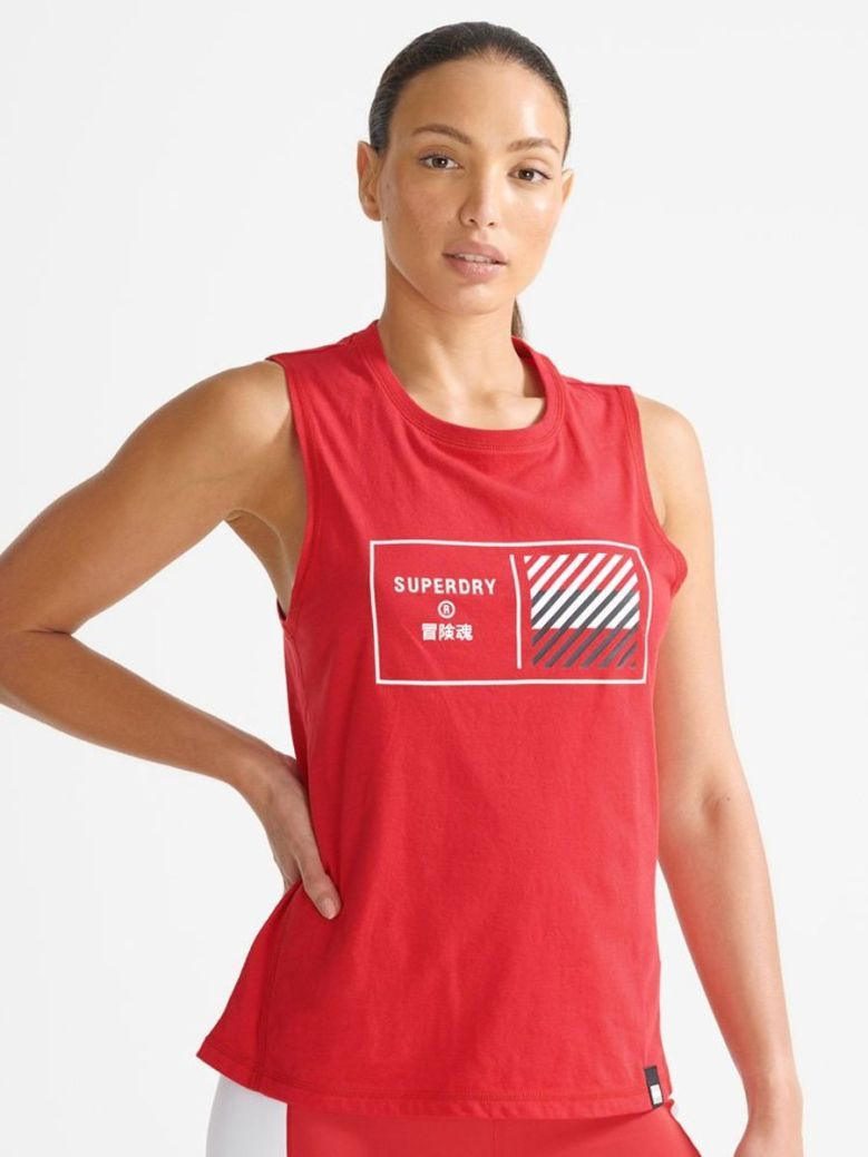 Superdry Train Core Graphic Vest Top Red