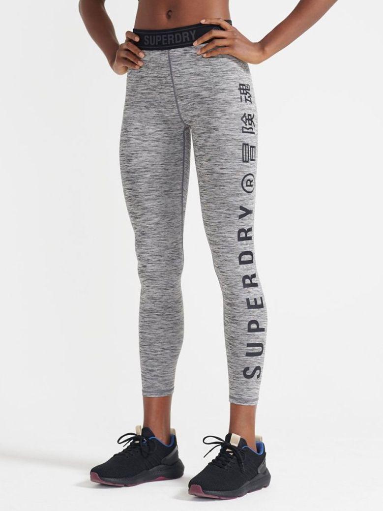 Superdry Training Elastic Leggings Grey