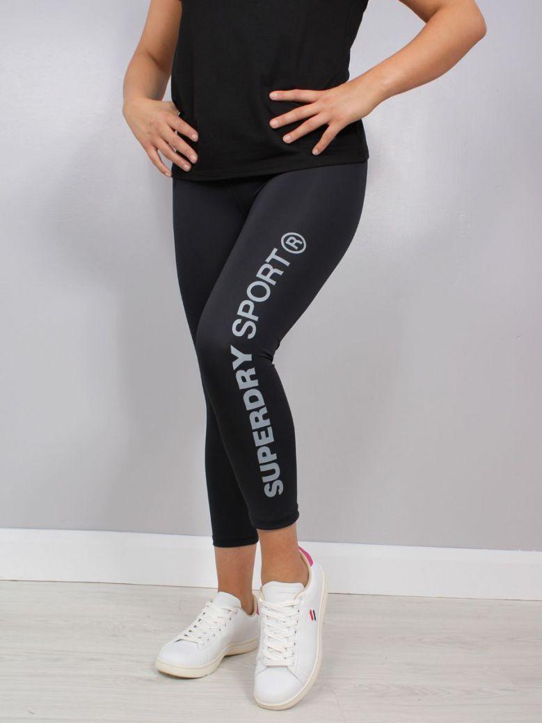 Superdry Training Essential Capri 7/8 Length Leggings Black