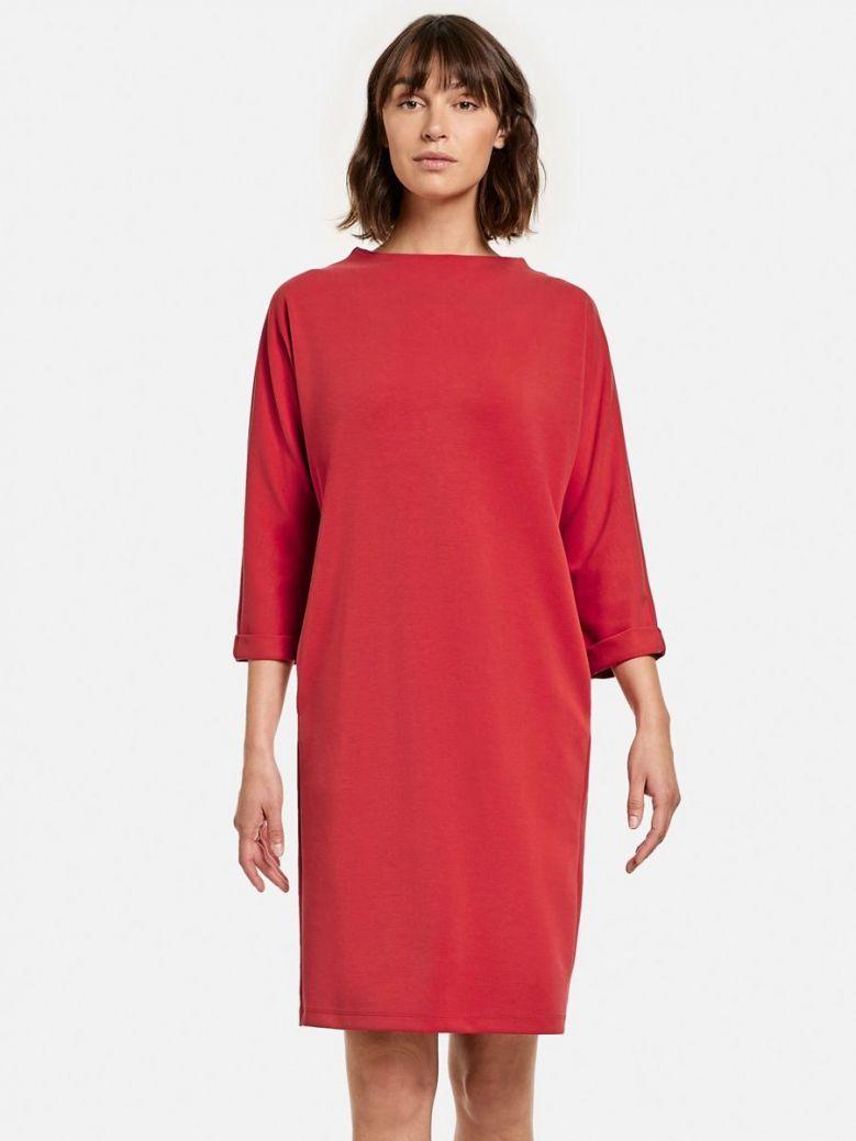 Taifun 3/4 Sleeve Dress Red