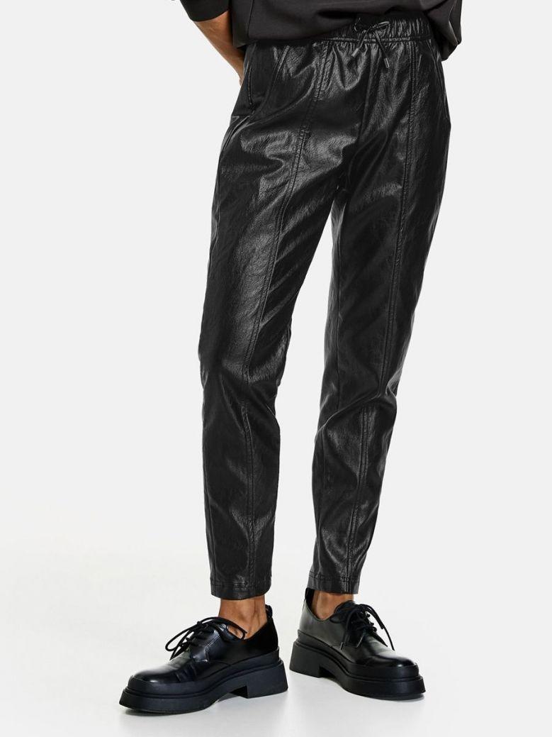 Taifun Faux Leather Trousers Black