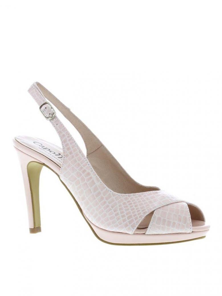 Capollini Blush Tessa Print Peep Toe Sandals