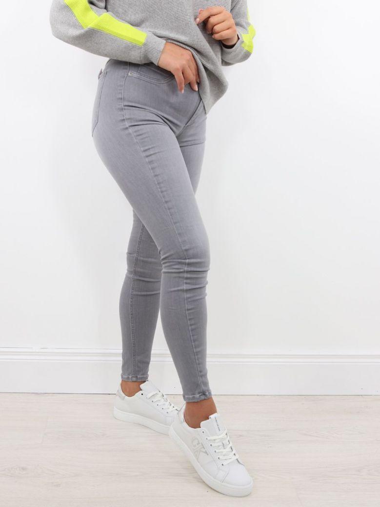 Tiffosi Super High Waist One Size Skinny Jeans Grey