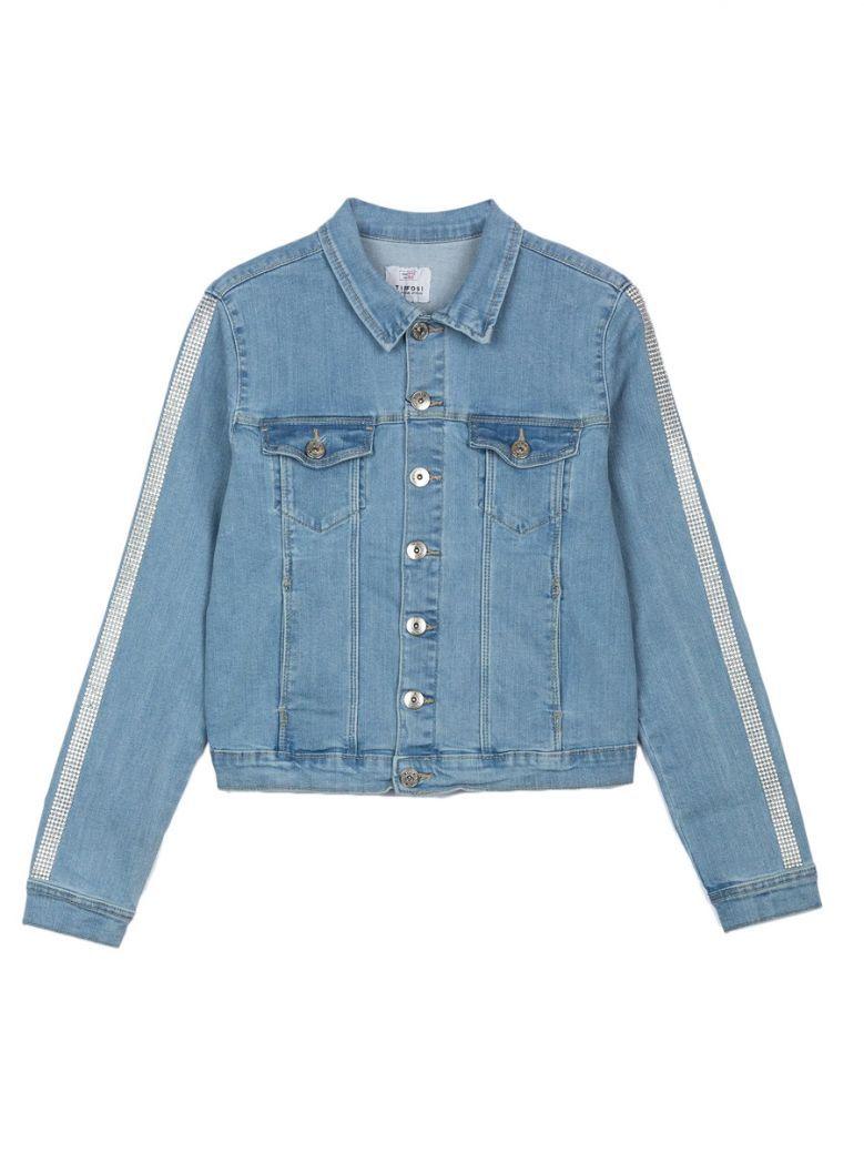 Tiffosi Denim Rhinestone Detail Jacket