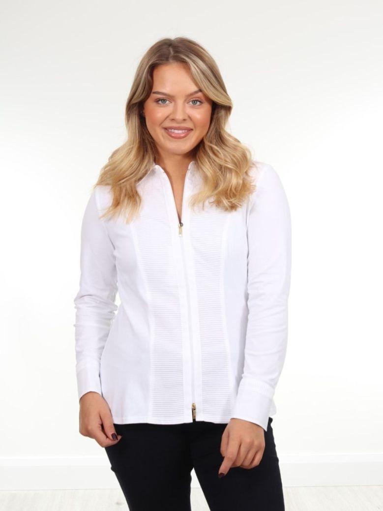 Tinta Zip Detail Shirt White