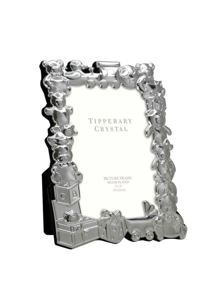 Tipperary Crystal Baby Frame with Toy Parade