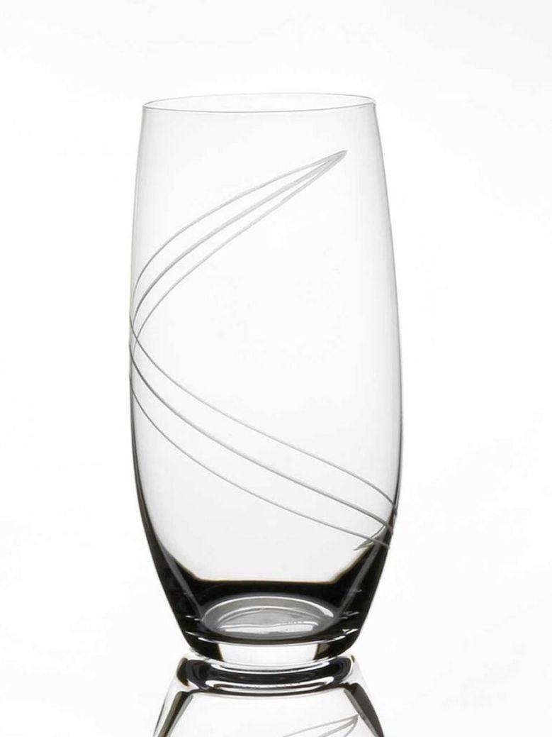 Tipperary Crystal Spiral Cut Set 6 Hiball Glasses