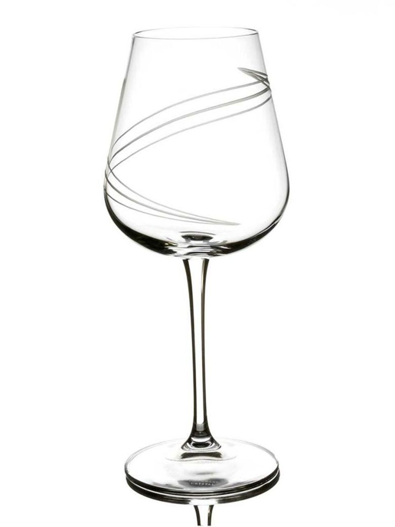 Tipperary Crystal Spiral Cut Set 6 Wine Glasses
