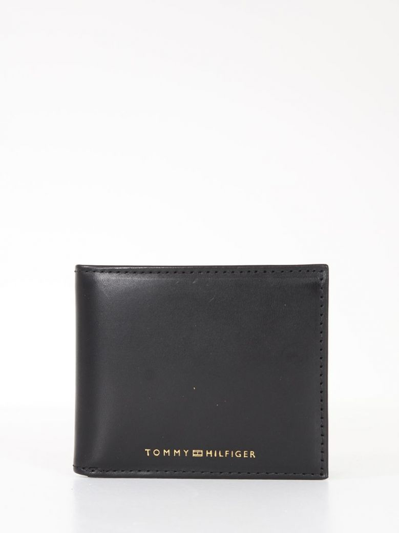 Tommy Hilfiger Casual Leather Small Card Wallet Black