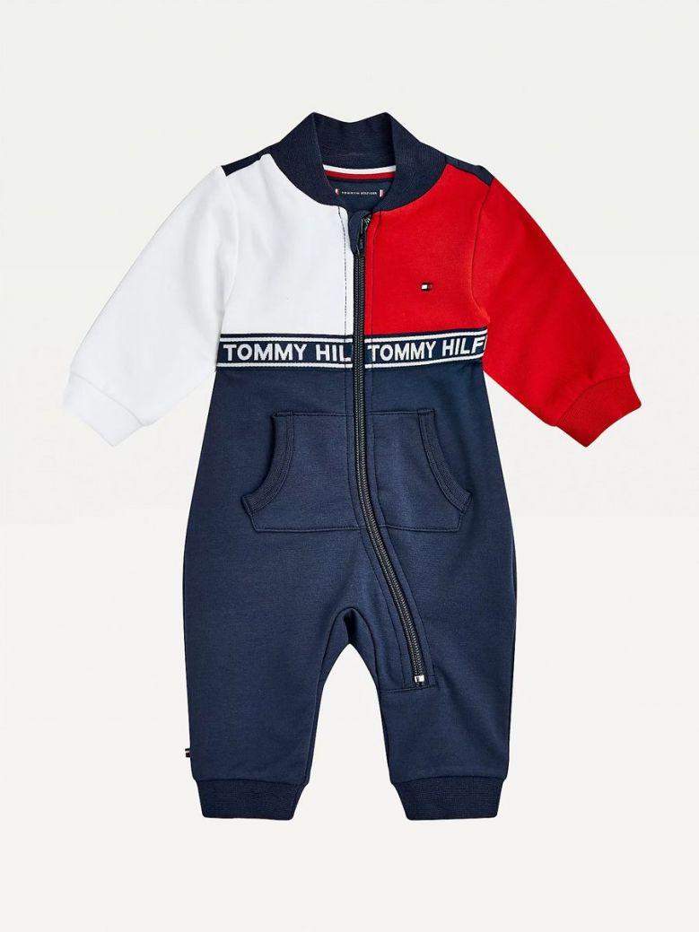 Tommy Hilfiger Colour-Blocked Bodysuit Navy