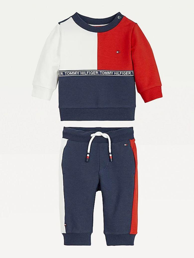 Tommy Hilfiger Colour-block Jogger Set Navy