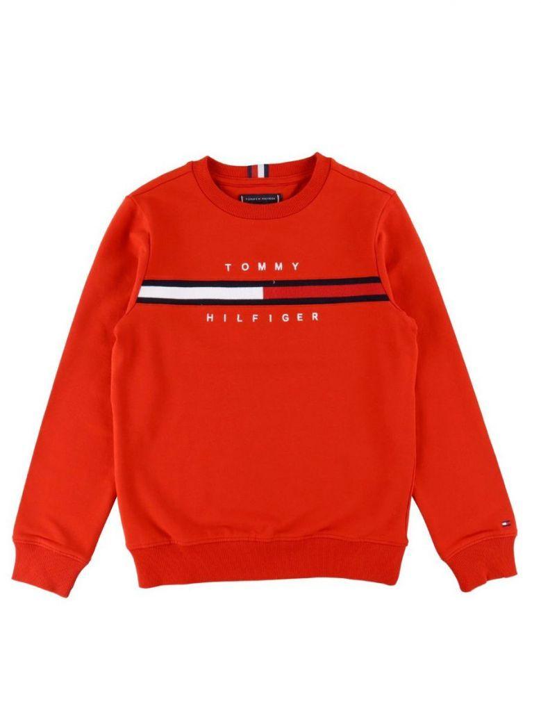 Tommy Hilfiger Cool Logo Sweatshirt Red