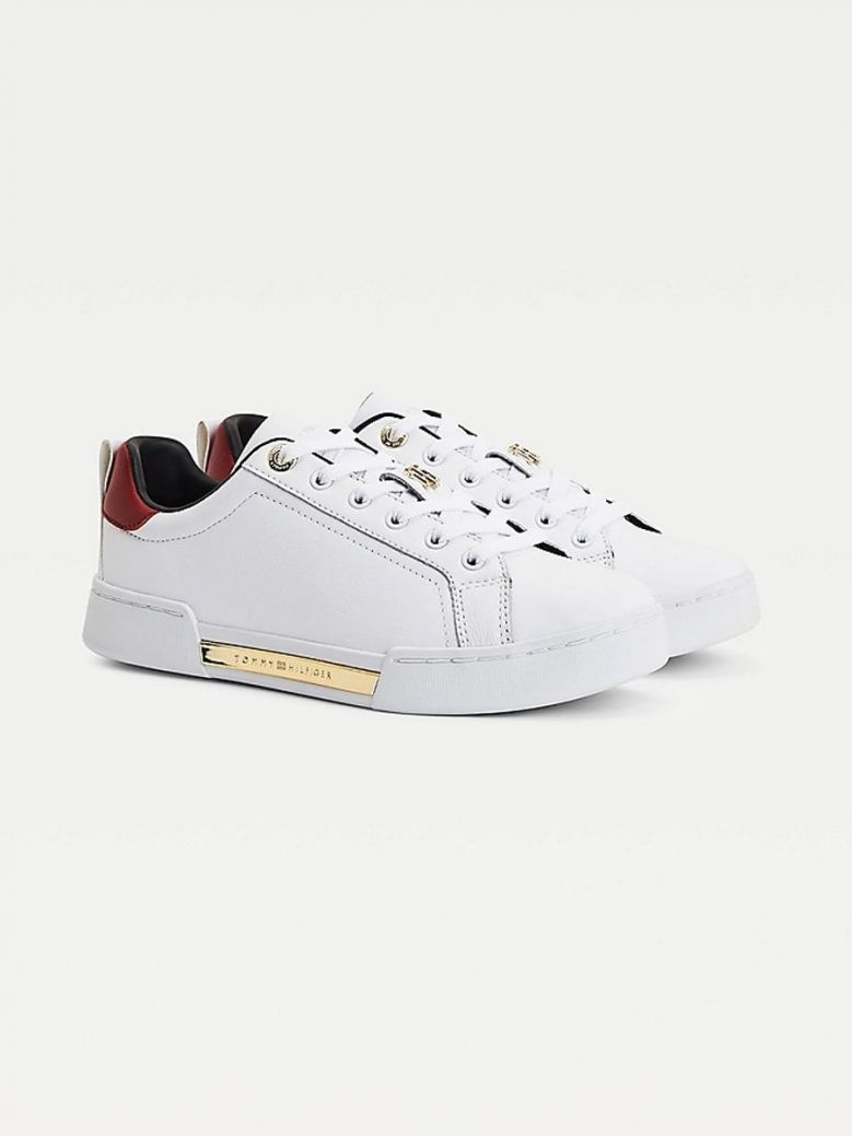 Tommy Hilfiger Elevated Monogram Cupsole Trainers White