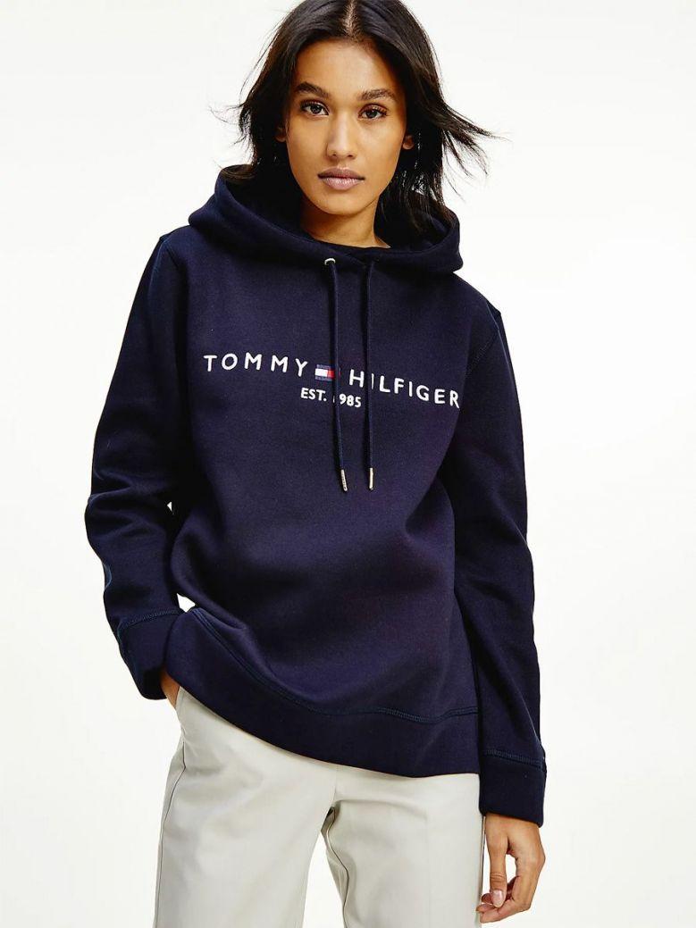 Tommy Hilfiger Essential Fleece Logo Hoody Navy