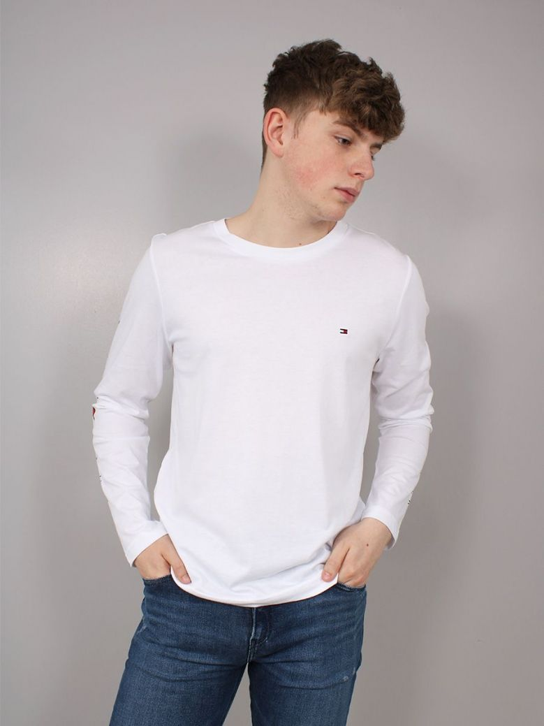 Tommy Hilfiger Essential Long-sleeved T-Shirt White