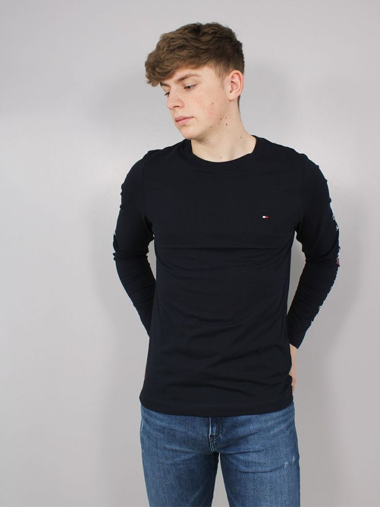 Tommy Hilfiger Essential Longsleeved T-Shirt Navy