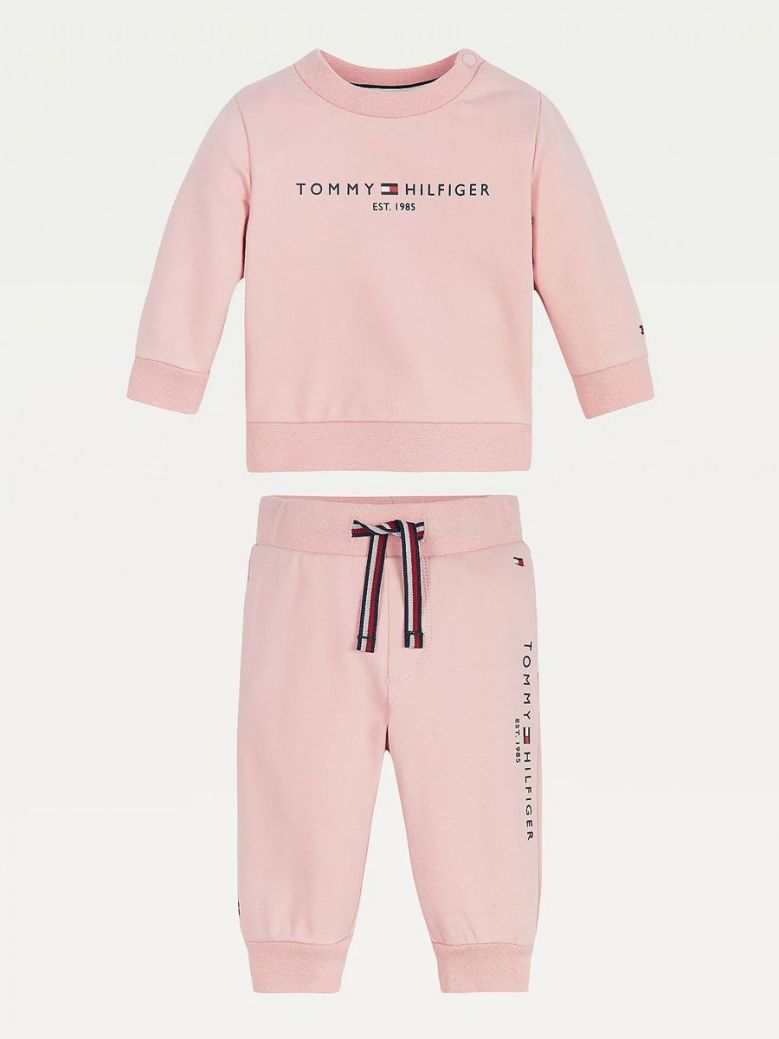 Tommy Hilfiger Essential Organic Cotton Joggers Set Pink