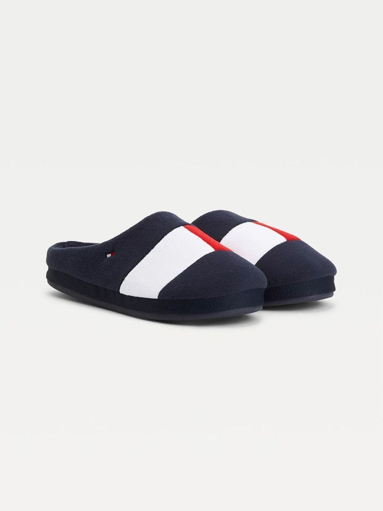 Tommy Hilfiger Flag Embroidery Home Slippers Navy