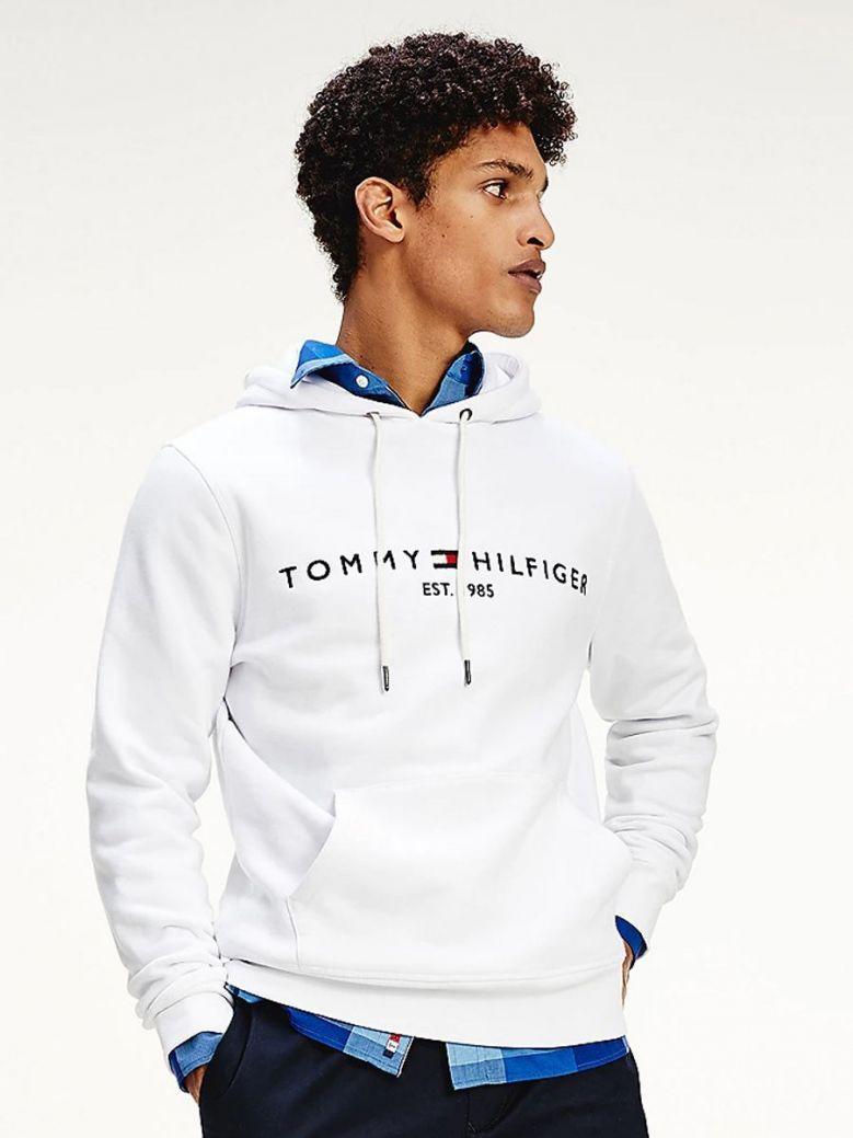 Tommy Hilfiger Flex Logo Hoody White