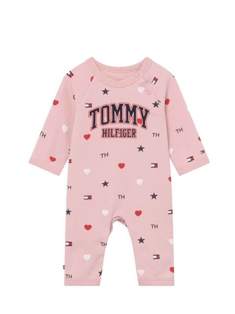 Tommy Hilfiger Heart Print Coverall Pink