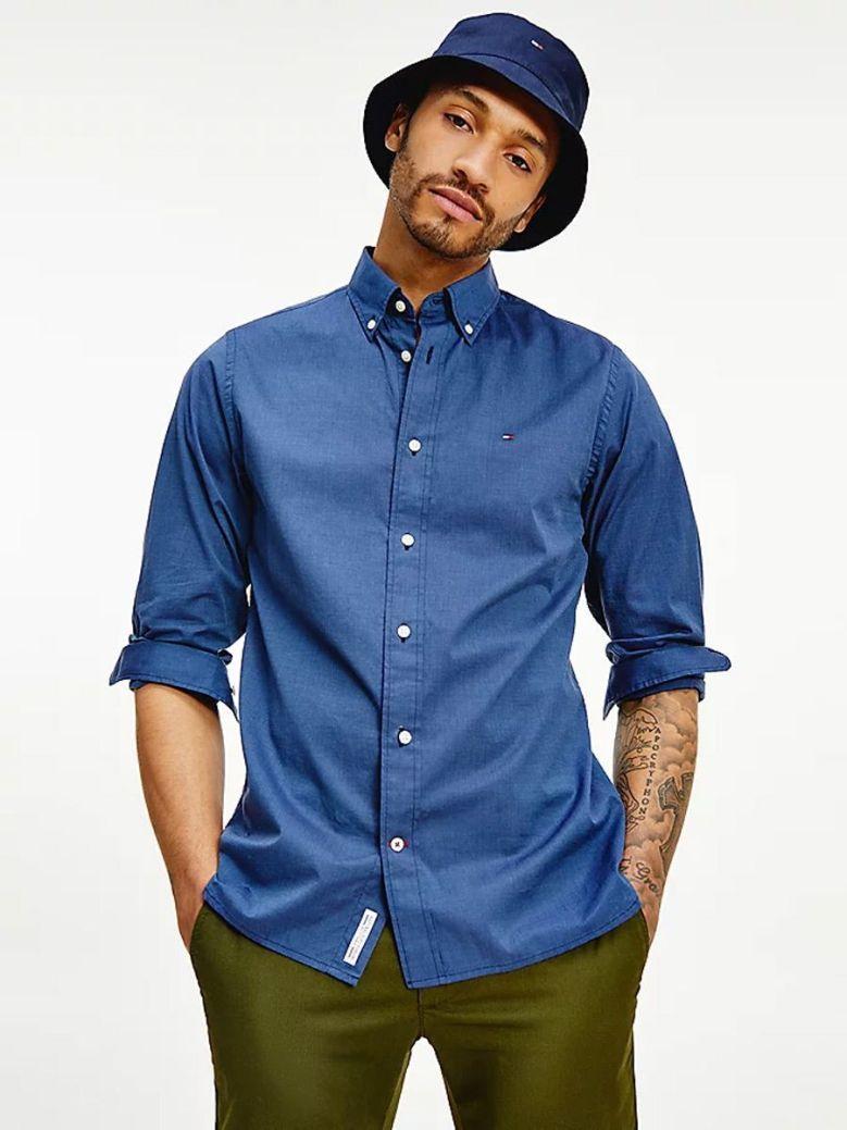 Tommy Hilfiger Natural Soft Print Regular Fit Shirt Navy