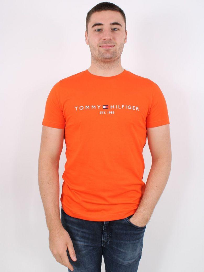 Tommy Hilfiger Organic Chest Logo T-Shirt Orange