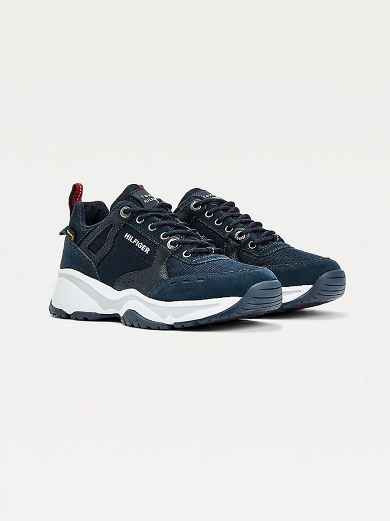 Tommy Hilfiger Outdoor Leather Cordura® Trainers Navy