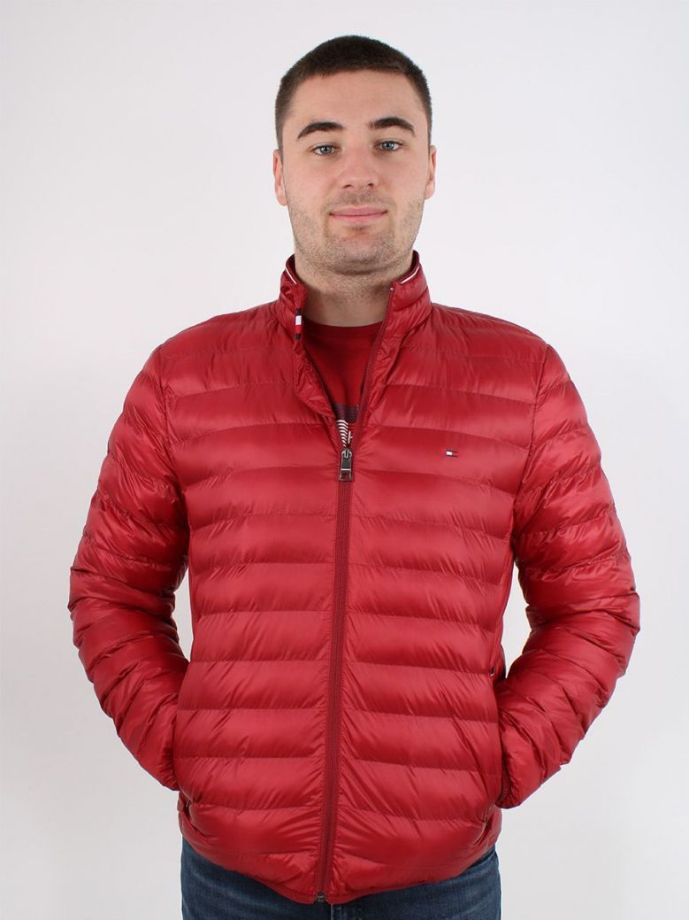 Tommy Hilfiger Packable Circular Jacket Red