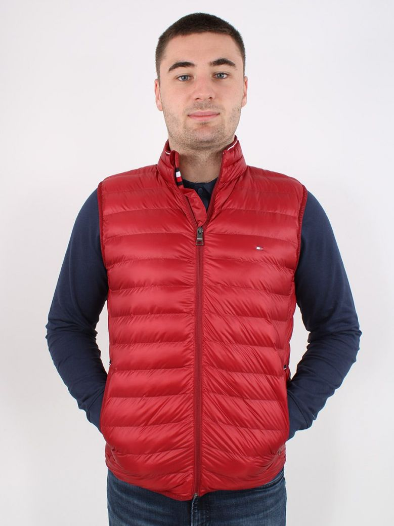 Tommy Hilfiger Packable Quilted Vest Red