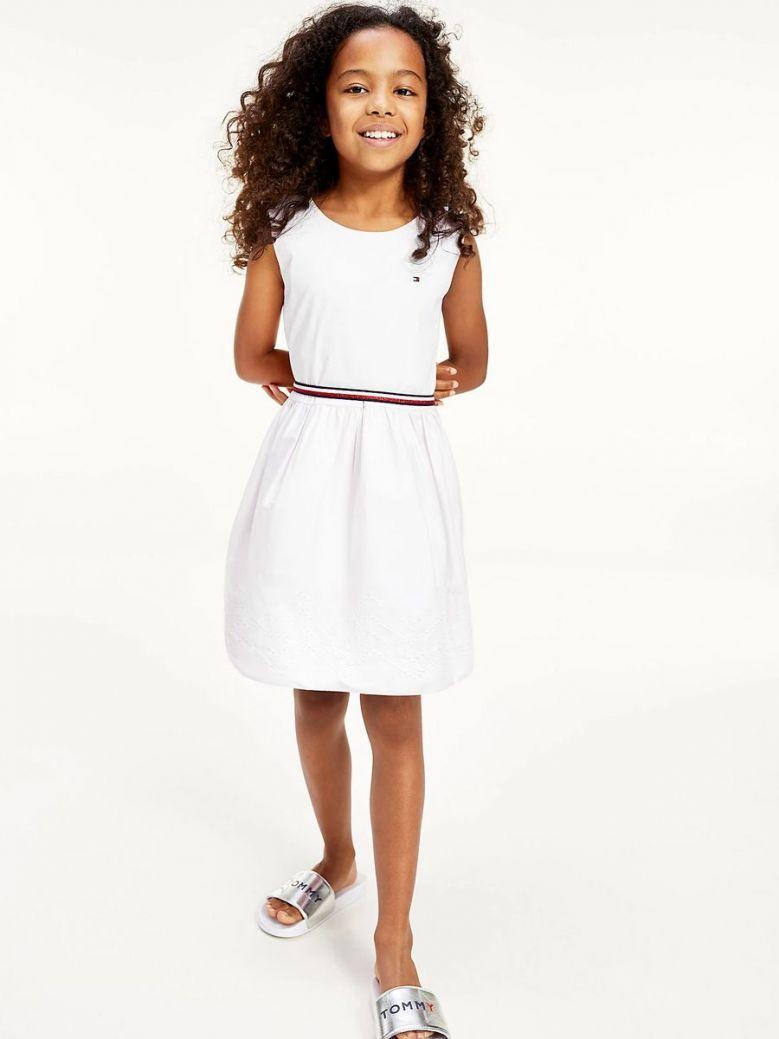 Tommy Hilfiger Ruffle Dress White