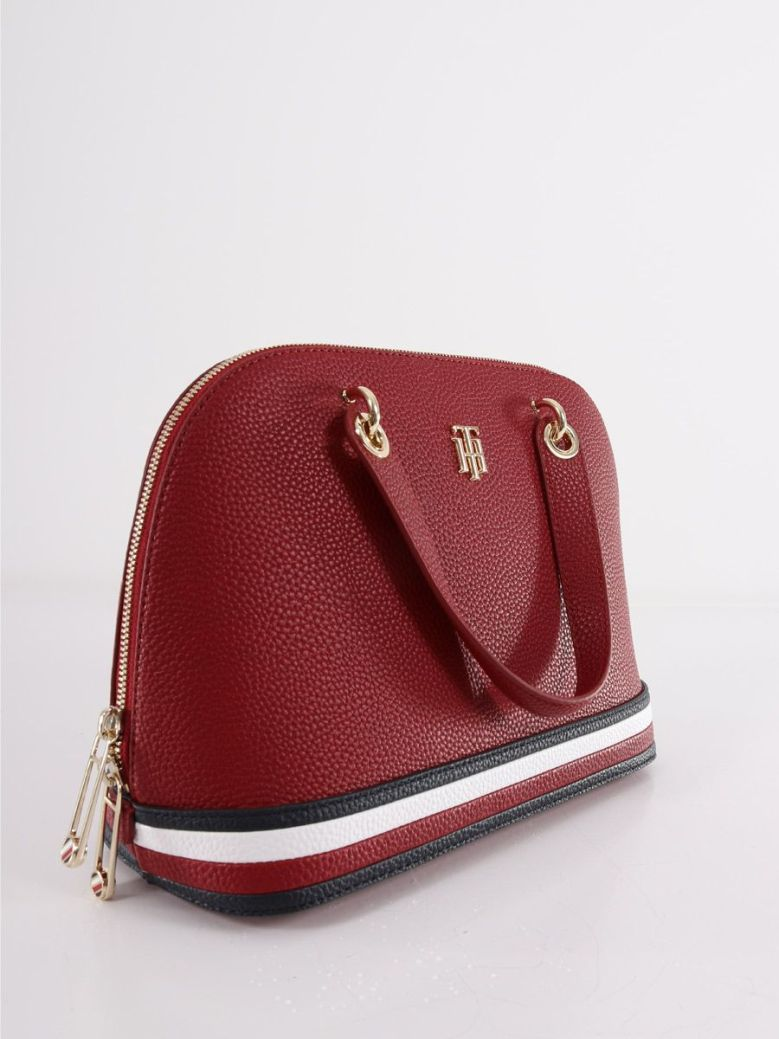 Tommy Hilfiger Signature Detail Duffel Bag Red