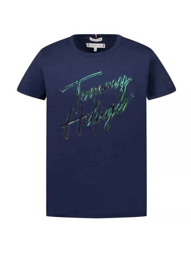 Tommy Hilfiger Signature Logo T-Shirt Navy