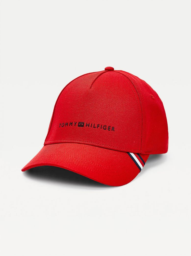 Tommy Hilfiger Uptown Logo Cap Primary Red