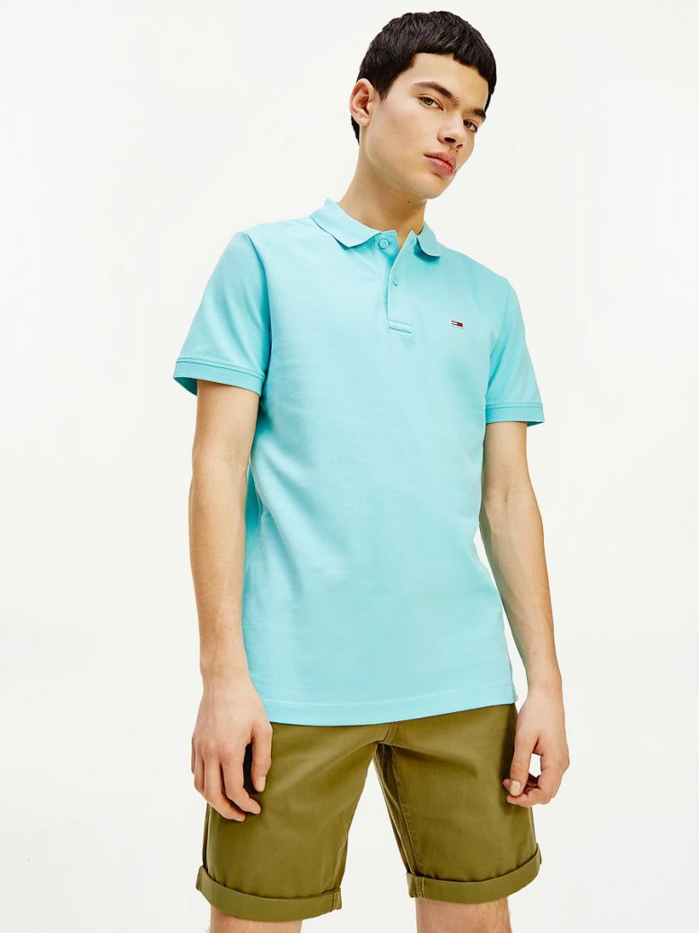 Tommy Jeans Classics Stretch Slim Fit Polo Blue