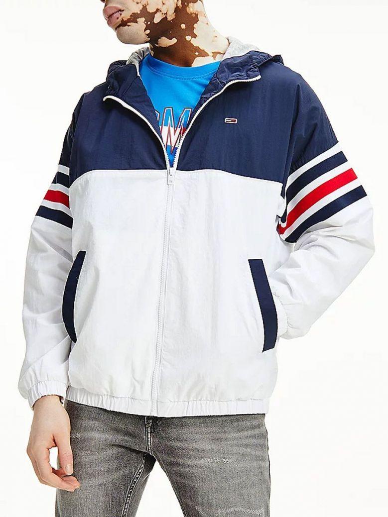 Tommy Jeans Colour-Blocked Zip-Thru Jacket Navy