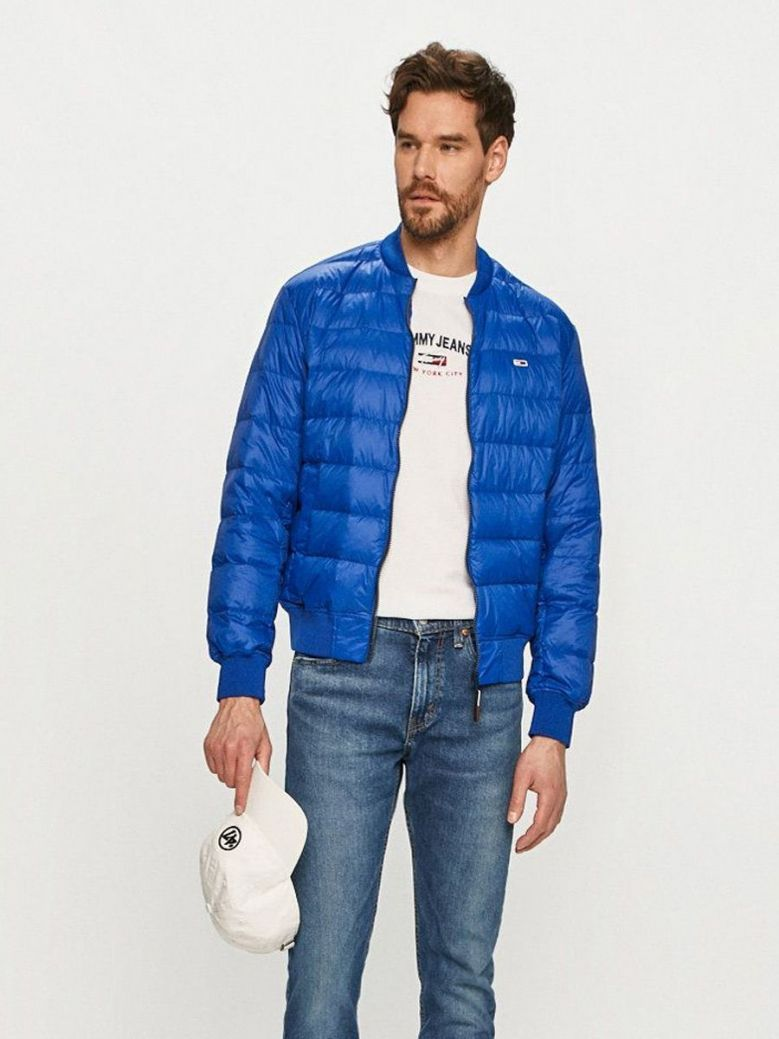 Tommy Jeans Down Quilted Bomber Jacket Blue