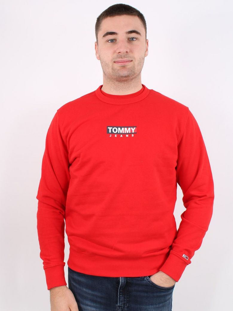 Tommy Jeans Entry Graphic Crew Sweatshirt Red