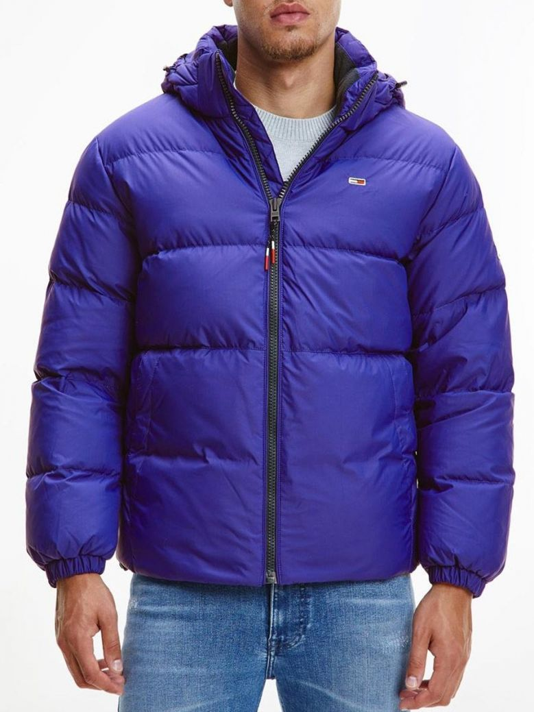 Tommy Jeans Essential Down Hooded Jacket Blue