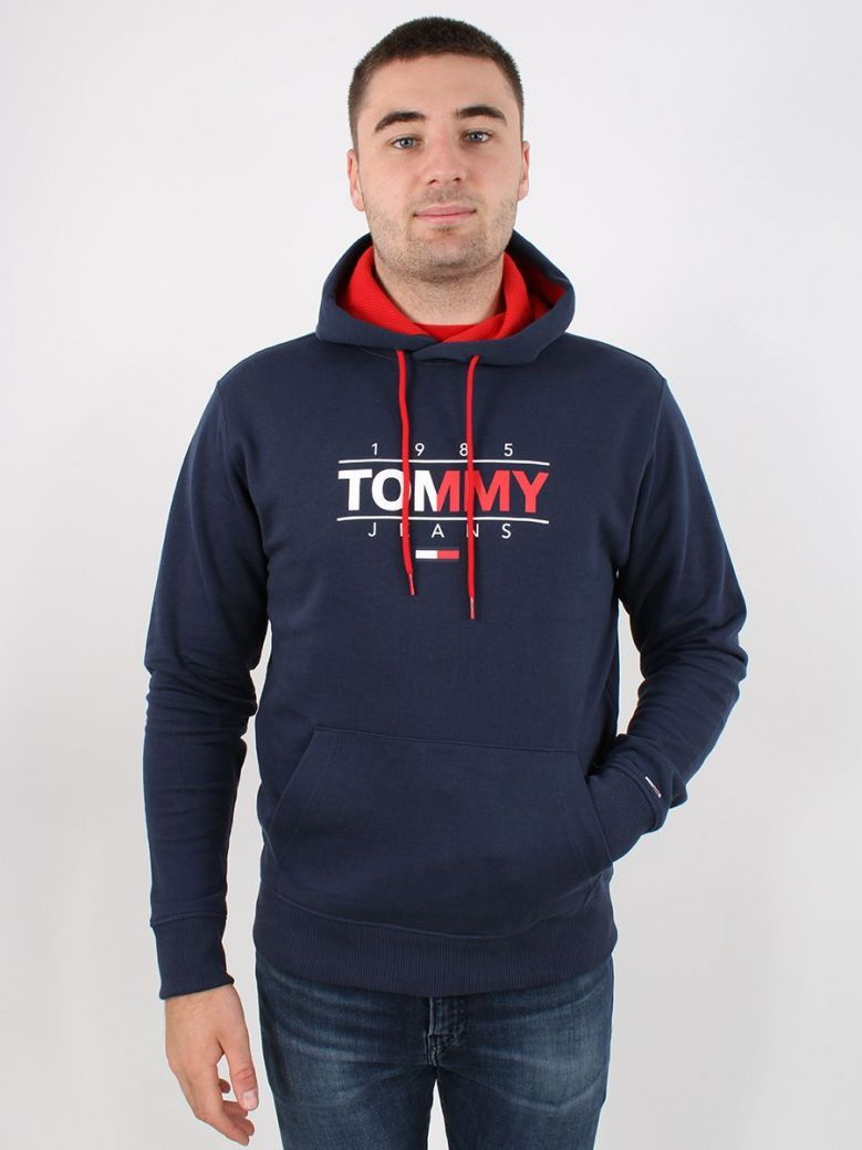 Tommy Jeans Essential Graphic Hoody Navy