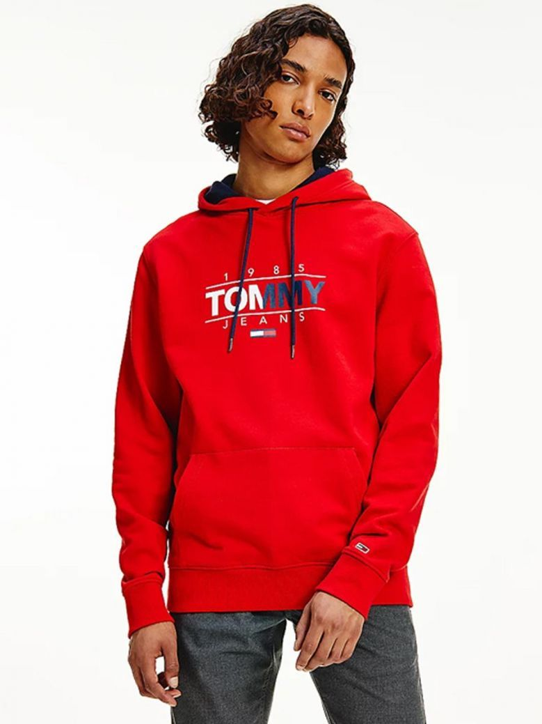 Tommy Jeans Essential Graphic Hoody Red